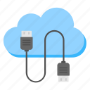 cloud computing, cloud connection, cloud technology, data center, internet services icon