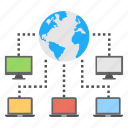 global connection, global networking, network connection, network structure, web hosting icon