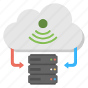cloud data platform, cloud network server, cloud server, cloud storage, online data storage icon