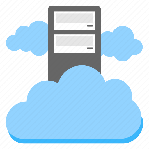 cloud computing platform, cloud server hosting, data infrastructure, dedicated cloud hosting, virtual cloud server icon
