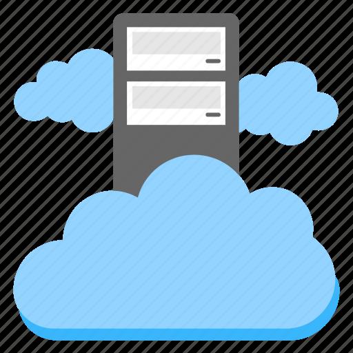 cloud computing platform, cloud server hosting, data infrastructure, dedicated cloud hosting, virtual cloud server icon