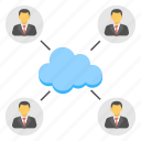 cloud community, cloud social networking, cloud technology, information technology, technical support communication icon