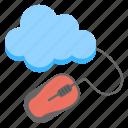 cloud computing concept, cloud management, cloud network, cloud storage access, cloud with mouse icon