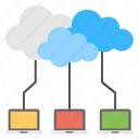 cloud computing, cloud connection, cloud data backup, cloud technology, internet services icon
