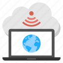 cloud hosting, cloud technology, global networking, wifi hotspot, wifi internet cloud icon