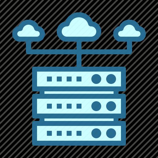 cloud, cloud server, server, server network icon