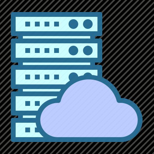 cloud, networking, server, server hosting, server network icon