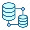 big data, database, database networking, server hosting, system icon