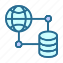 database, database networking, networking, web, web networking icon