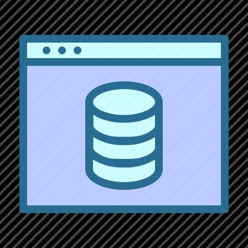 database, database center, database server, web icon