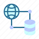 database, hosting, networking, web icon