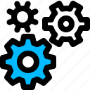 development, engineering, gears, settings icon