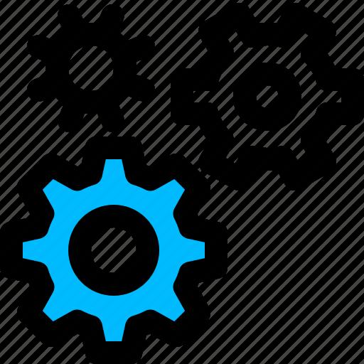 development, engineering, gears, settings icon