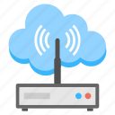 cloud internet source, cloud wireless router, internet router, technology device, wifi modem icon