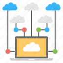 cloud computing, cloud connections, cloud networking, cloud storage, cloud technology icon