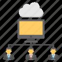 client server connection, cloud computing, cloud server, web data center, web hosting icon
