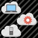 cloud computing, data handling cloud, high performance cloud, virtual connection, web hosting icon