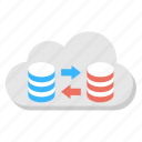 cloud computing, cloud data migration, data transmission, system backup, web storage icon