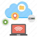 cloud computing, cloud servers, cloud services, cloud storage, cloud technology icon
