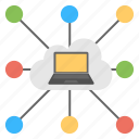 cloud connections, cloud information transfer, cloud storage, internet connection, shared cloud computing icon