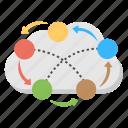 cloud network, cloud technology, digital network, internet cloud, internet communication icon