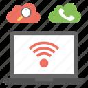 cloud calling, cloud computing, cloud search, cloud services, internet connection icon