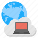 cloud computing, global network, information infrastructure, web cloud connection, worldwide network icon