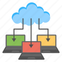 cloud computing, cloud data center, cloud technology, it concept, serverless computing icon