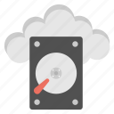 cloud computing, cloud database, cloud hard disk, cloud storage, personal cloud storage icon
