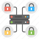 data center security, database protection, secure web hosting, server protection, server security icon