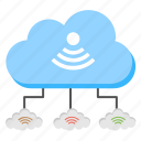 cloud circuit, cloud computing, cloud networking, cloud technology, internet connection icon