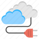cloud access, cloud computing, cloud data plugin, cloud network connection, cloud power network icon