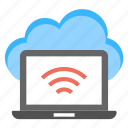 cloud computing, cloud internet center, cloud wifi technology, it concept, serverless computing icon