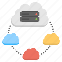 cloud based hosting, cloud computing, cloud connections, global storage, iaas icon