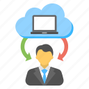 client support, cloud support person, customer care, hosting online support, hosting representative icon