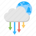 cloud circuit, cloud computing, cloud technology, global internet connection, web cloud networking icon