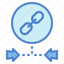 connection, link, linked, multimedia icon
