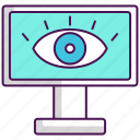 monitoring, software, spyware icon