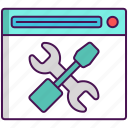 maintenance, optimization, seo, tools icon