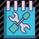 maintenance, schedule, scheduled, service, tools