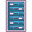 database, hosting, rack, server icon