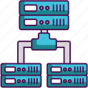 databases, hosting, servers icon