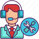 customer service, help, maintenance, support, tech, tech support icon