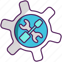 maintenance, technical, technical tools, tools, update icon