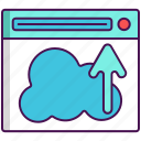 cloud hosting, cloud server, upload icon