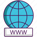 domain registration, website, www icon