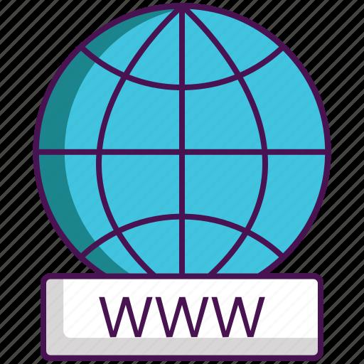 Domain registration, website, www icon - Download on Iconfinder