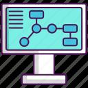 algorithm, flow chart, website icon