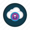 account, client, cloud, network, profile, sharing, user icon