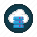 cloud, computing, data, database, hosting, server, storage icon